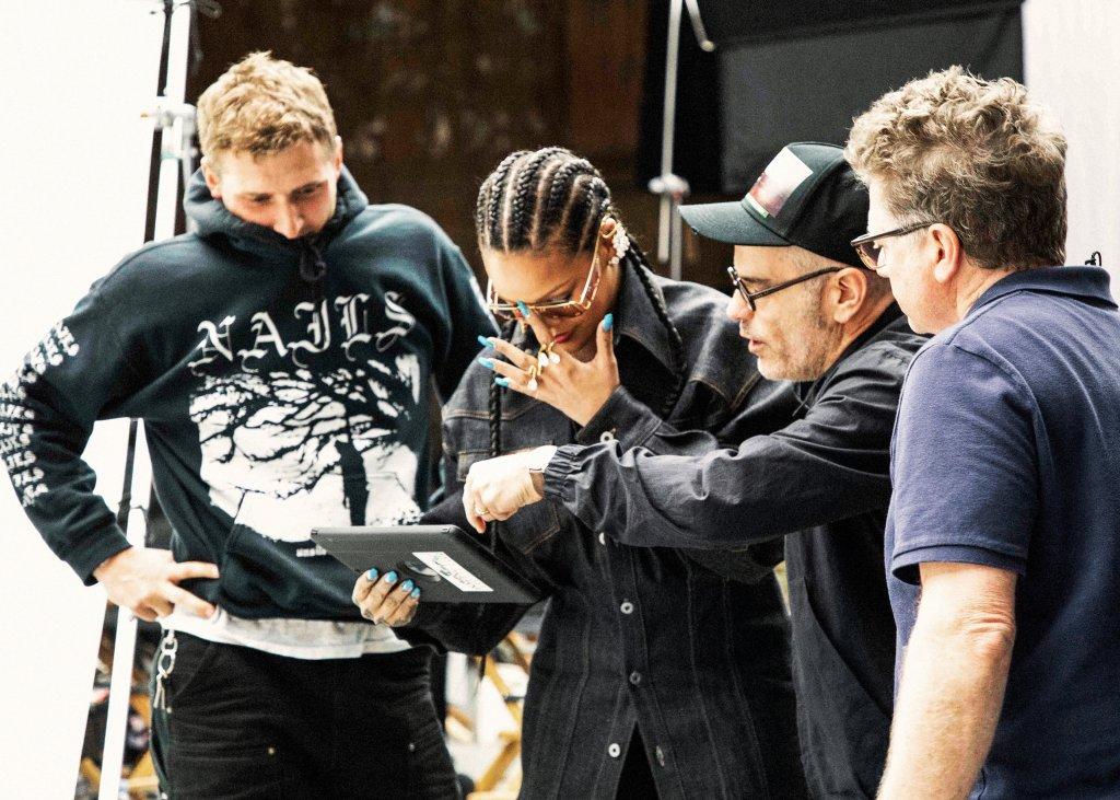 Rihanna on the set of FENTY Maison 5-19 campaign
