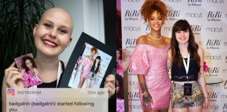 Rihanna e Fã com câncer da Alemanha