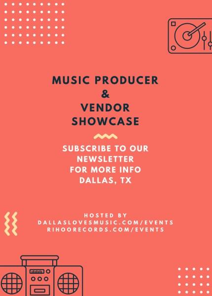 Music Producer & Vendor Showcase Flyer