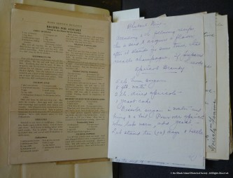 Washburn Family Papers, MSS 783 sg 1, folder 14, recipe book, 1898-1931.