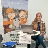 Suvi Mäkinen Erämessuilla 2016.