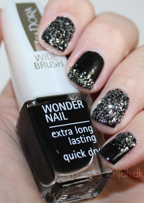 Isadora nail glitter 184 gothic black