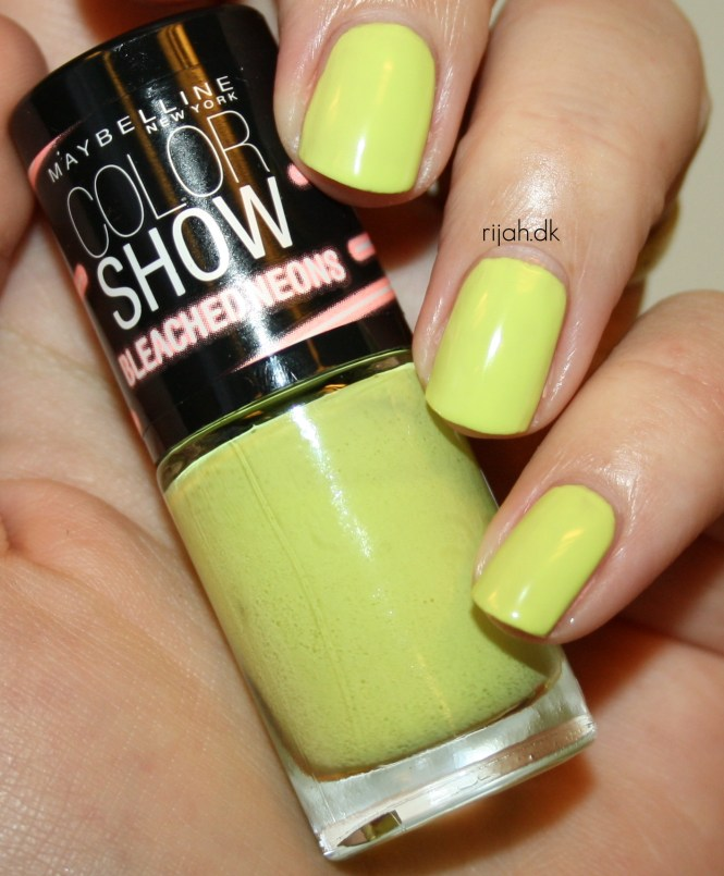 Maybelline Chic Chartreuse Maybelline Bleached Neons