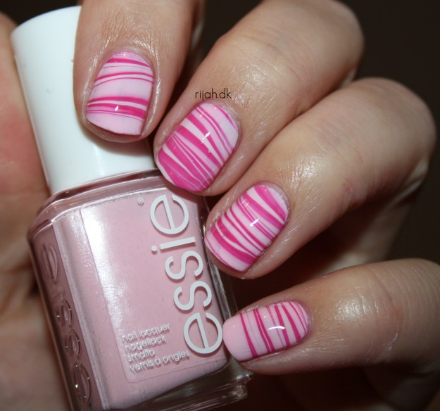 31DC2014 30: Inspired by a tutorial Water Marble Stripes