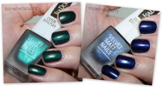 IsaDora Velvet Matt Nails Green Planet & Moody Blues