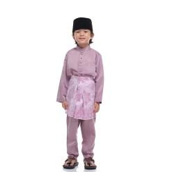 Baju Melayu Kids LAVENDER PURPLE - Rijal & Co 01
