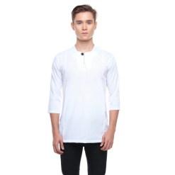 Kurta Falique PEARL WHITE 5 Rijal & Co