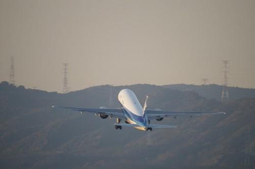 ANA-全日空-飛行機-離陸