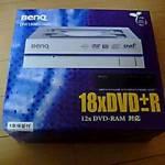 BENQのDW1800という書き込み型DVDドライブの購入とセッティング