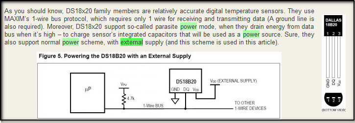 DS18B20 - on to external power (1/3)