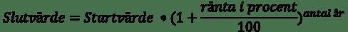Ränta-på-ränta formel