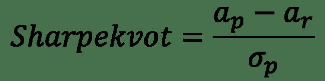 Formel för Sharpe-kvoten