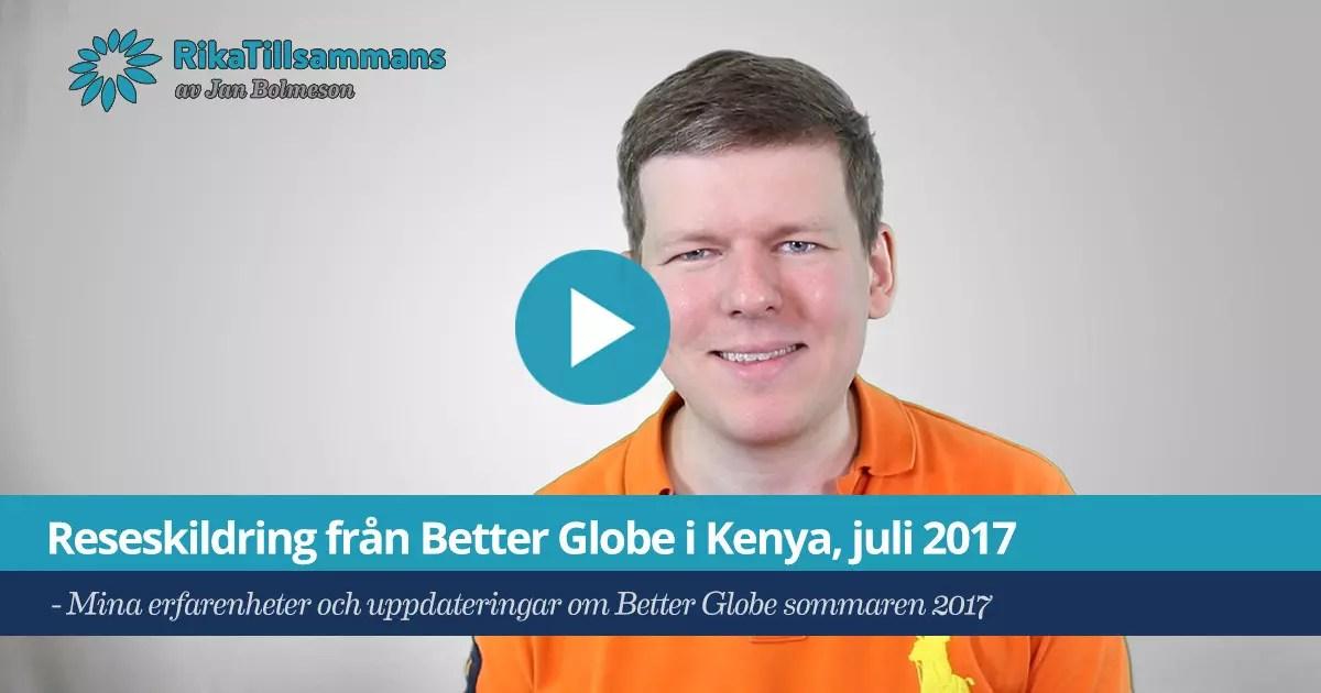 Reseskildring från Better Globe i Kenya, juli 2017