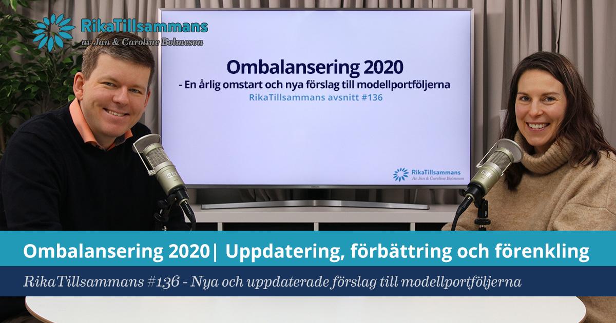 Försättsbild till artikeln: Ombalansering 2020 | Uppdatering av modellportföljerna - RikaTillsammans #136 - Förbättring och förenkling av modellportföljerna för 2020