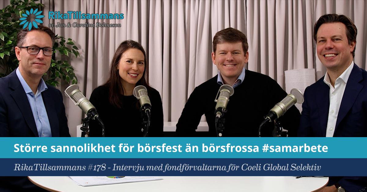 Försättsbild till artikeln: Större sannolikhet för börsfest än börsfrossa! - RikaTillsammans #178 - Intervju med fondförvaltarna för Coeli Global Selektiv