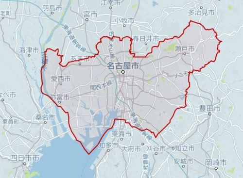 名古屋でUberを使えるエリア2018