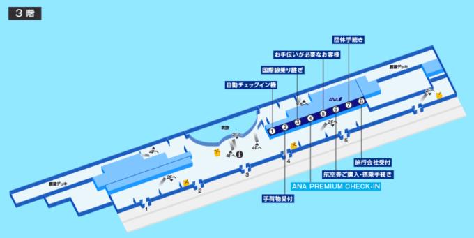那覇空港(沖縄)のANAプレミアムチェックインの場所