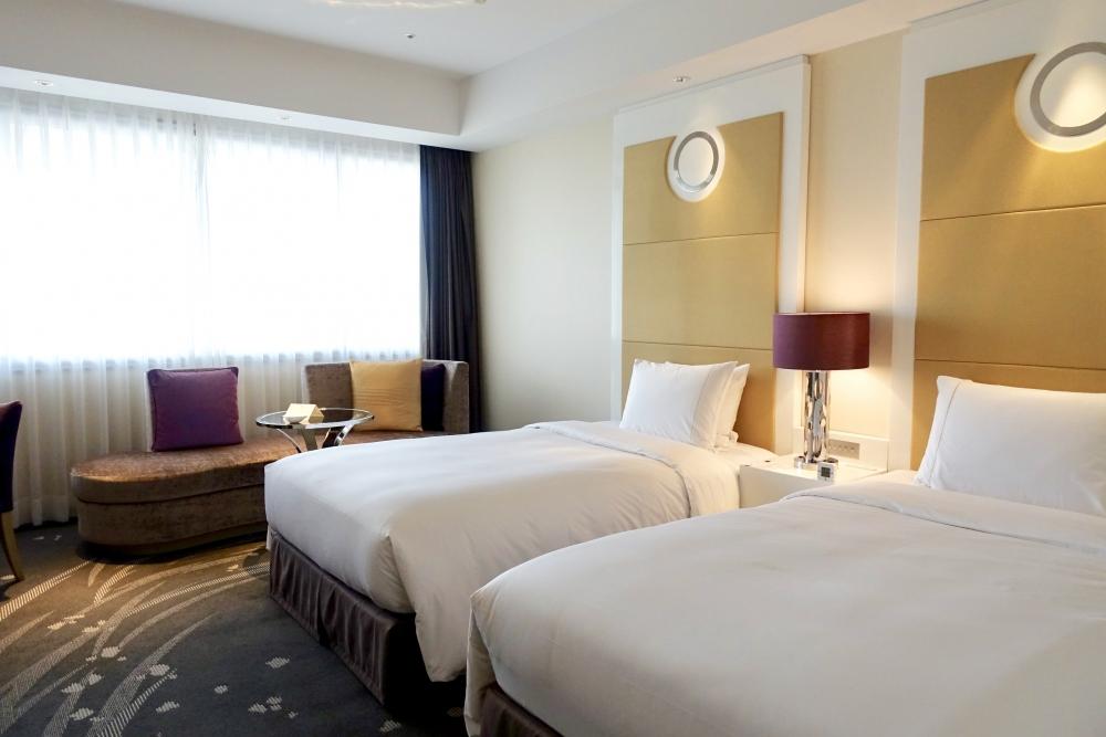 東京マリオットホテル エグゼクティブデラックスツインのお部屋 ベッドルーム