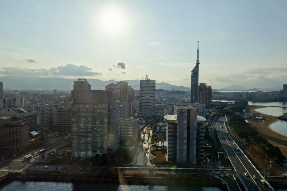 ヒルトン福岡シーホーク パノラミックスイート 福岡タワーの眺め