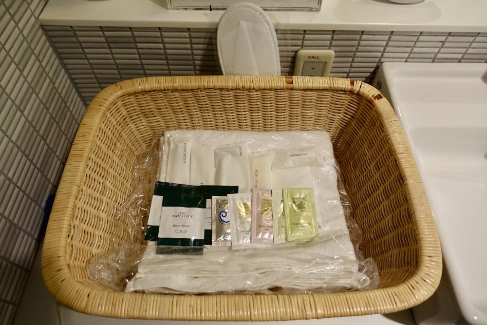 成田空港第1ターミナル 第5サテライト ANAスイートラウンジ シャワーアメニティ