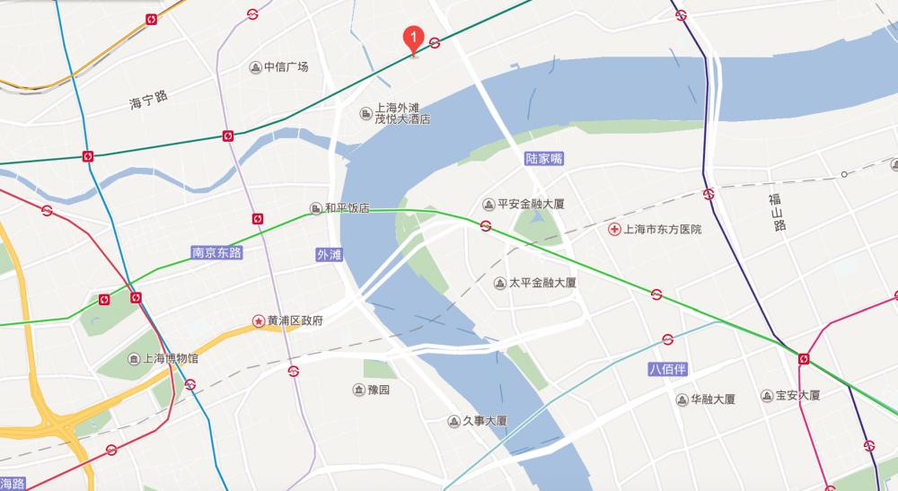 上海外滩w酒店 地図