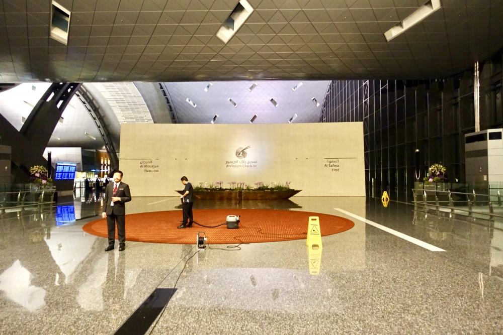 カタールドーハ国際空港ファースト・ビジネスクラス用エントランス