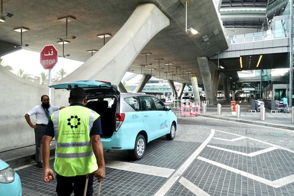 カタール航空ハマド国際空港タクシー乗り場