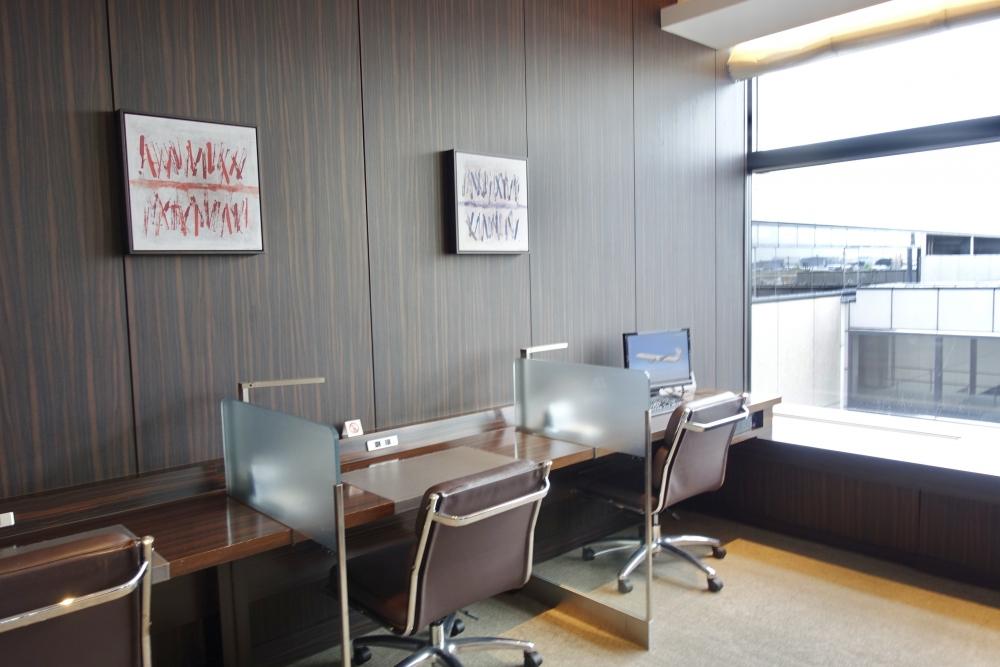 成田国際空港第2ターミナルサテライトJALファーストクラスラウンジビジネスセンター