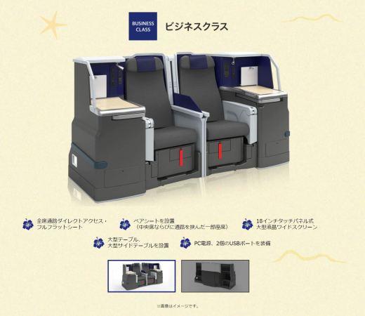 ANAハワイ新規投入A380ビジネスクラス
