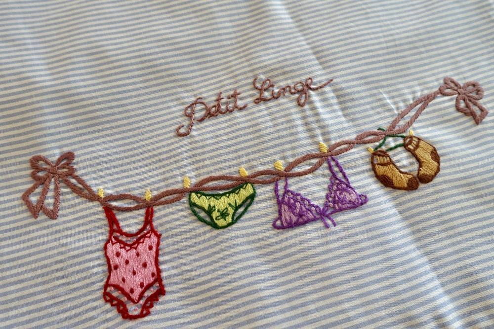 ニンクーンランジェリー袋の刺繍