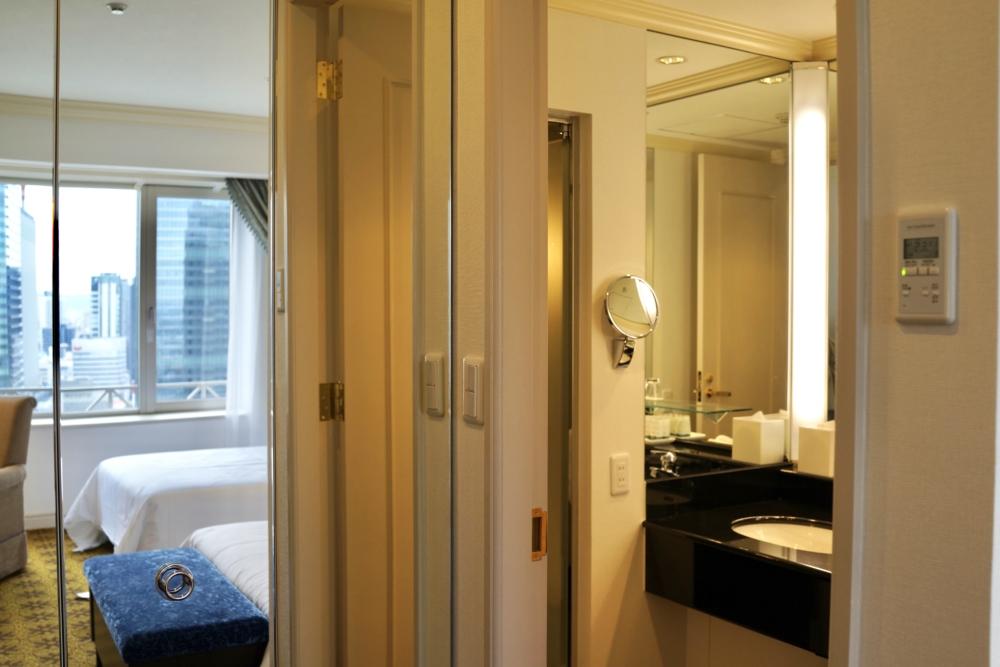 ウェスティンホテル大阪ジュニアスイート・ベッドルームの浴室