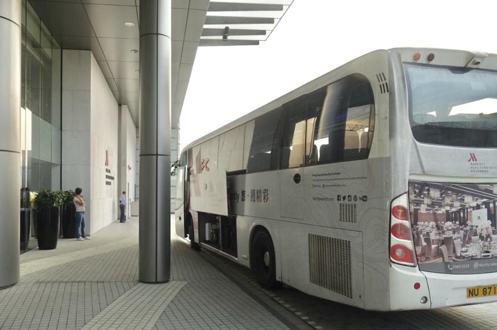 香港スカイシティ・マリオット・ホテルの無料シャトルバス