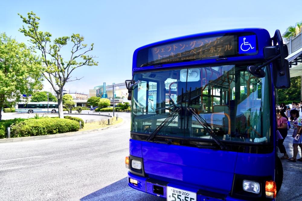シェラトン・グランデ・トーキョーベイホテル行きの無料シャトルバス