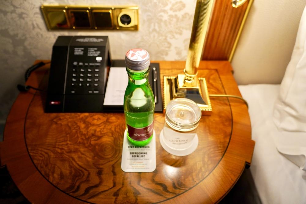 ホテルインペリアルウィーン・無料のミネラルウォーター