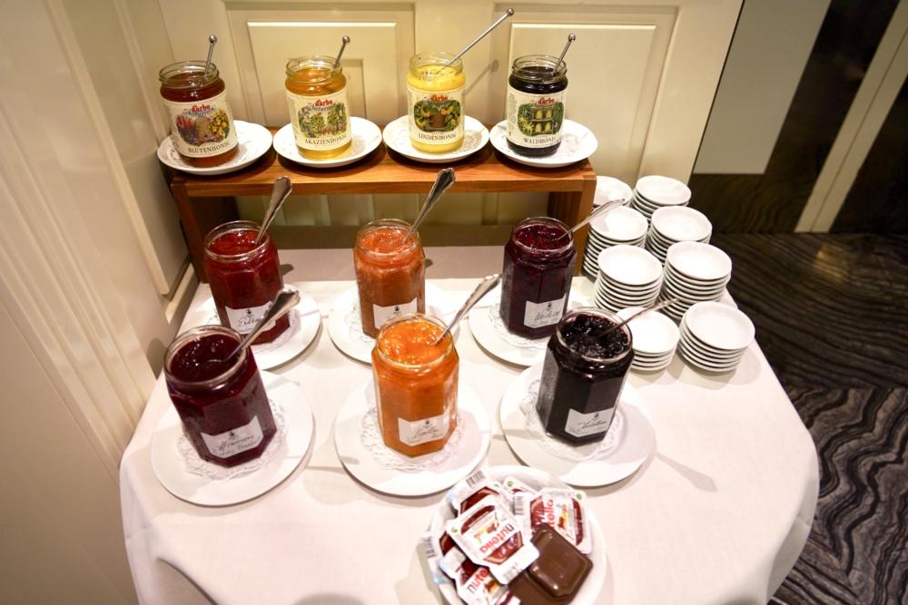 ホテルインペリアルウィーン・朝食・バラエティ豊かなジャム類