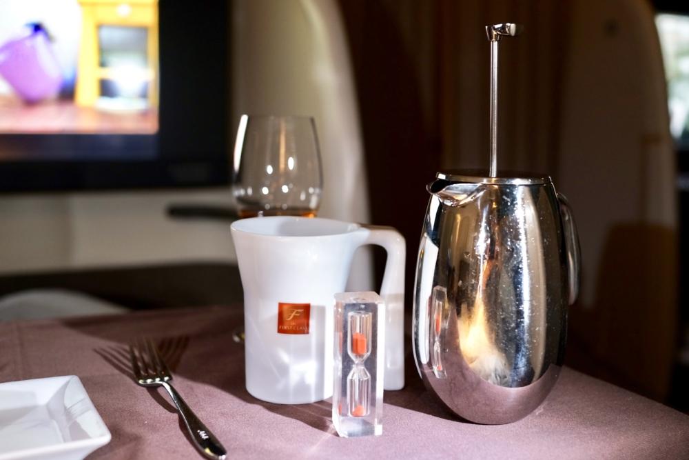 JAL国際線ファーストクラス機内食:ティータイム