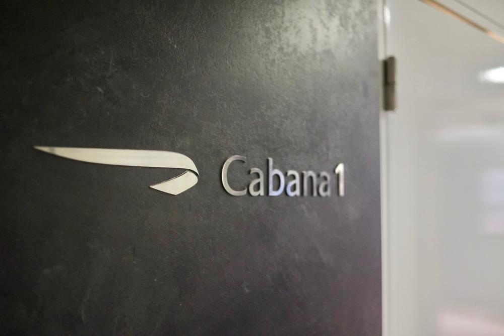 ロンドン・ヒースロー空港コンコルドルーム・カバナのドア