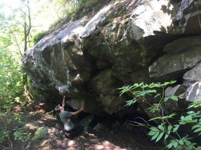 montagne du collège, la Pocatière, Québec, Bas-St-Laurent, escalade, roche, bloc, trad, sport, moulinette