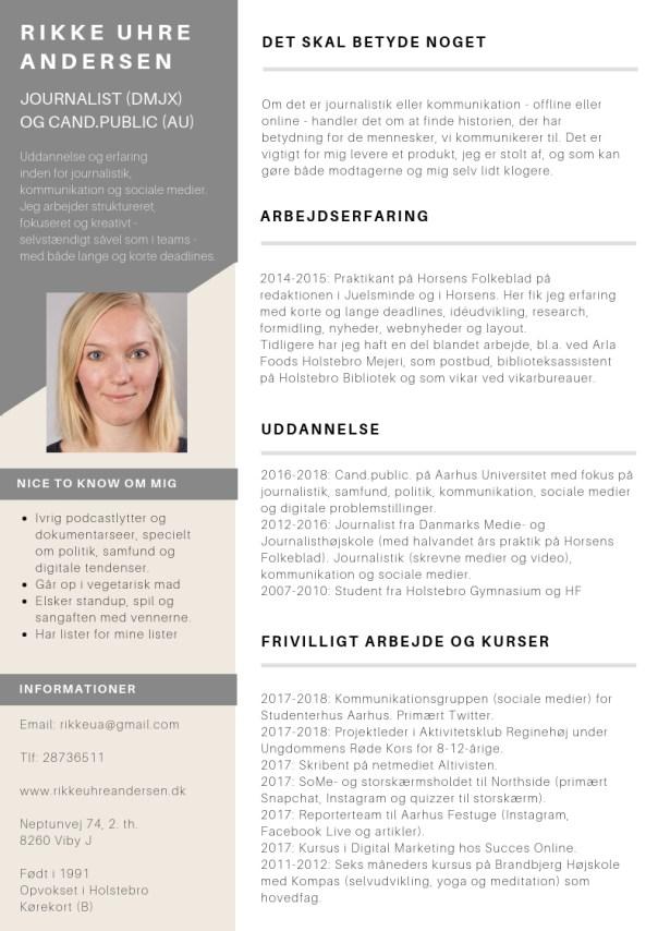 Rikke Uhre Andersen CV
