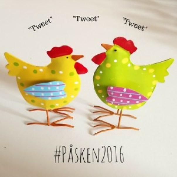 Virksomheder og institutioner tweeter om påske på Twitter