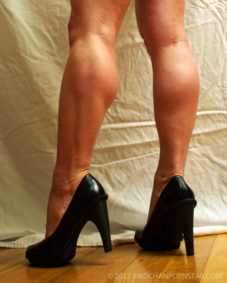 FBB calves in high heels