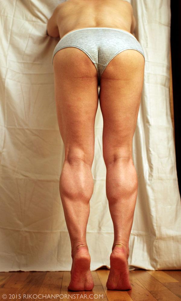 Rikochan's muscular legs and ass