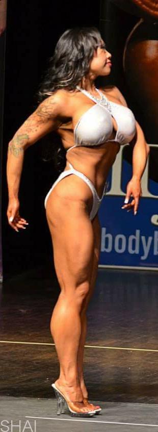 Shai female bodybuilder with muscular calves