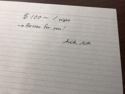 1泊100ドル~のモーテルの使い道。