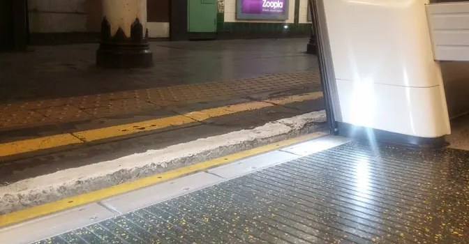 Step-free access on the tube