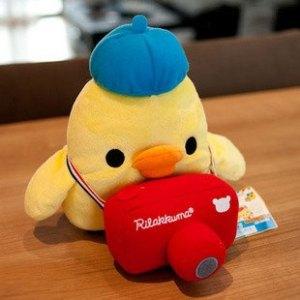 Kiroitori with camera plush toy rilakkuma world