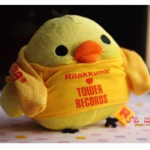 kiiroitori tower records plush toy