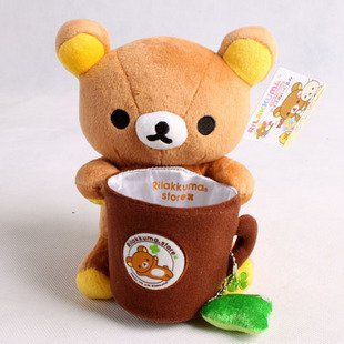 rilakkuma plush toy pen phone holder container 2