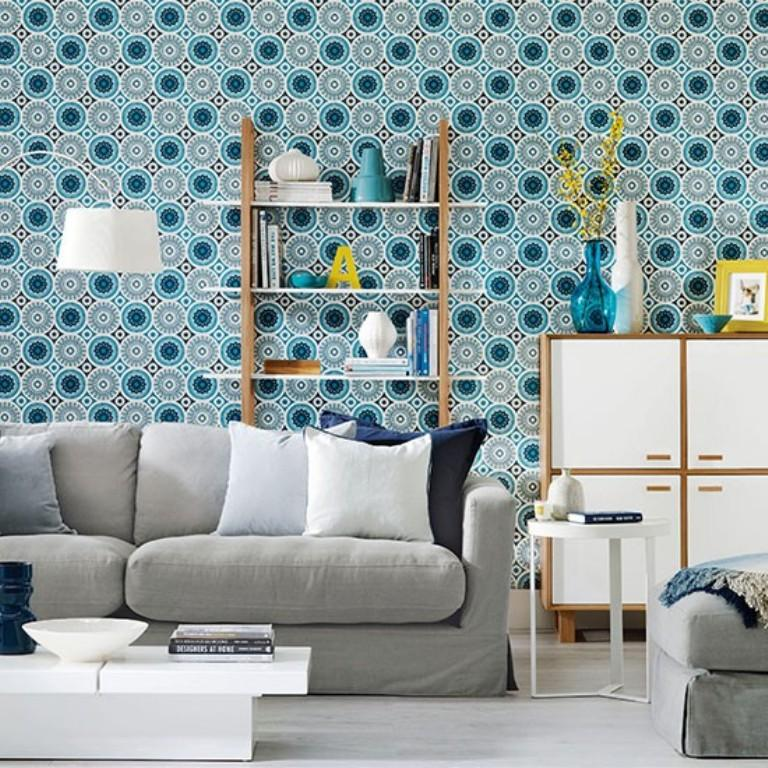Even if you have space to spare, you're goin. 20 Sumptomous Living Room Wallpaper Designs - Rilane