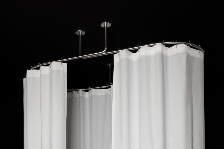Oval Shower Curtain Rod Inspiration Photos Rilane